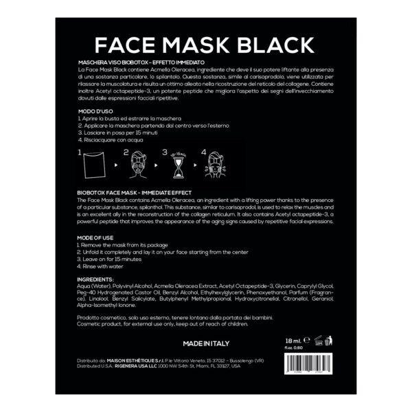Rigenera Face Mask Black