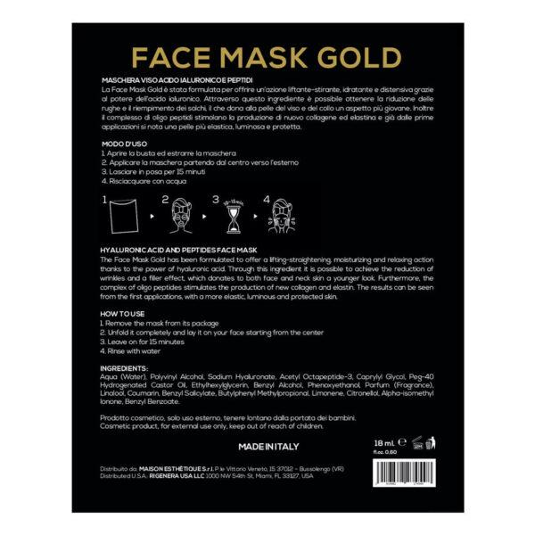 Rigenera Face Mask Gold